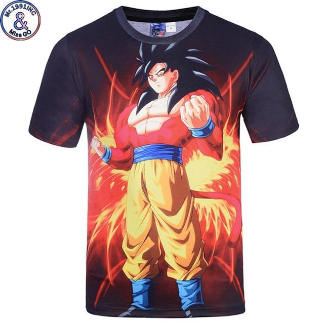 2017 New Japanese Anime T-shirts Women Men Dragon Ball Z Saiyan Tee Shirt Boy/Girl Cartoon 3D Print T shirt Summer Tops Tees