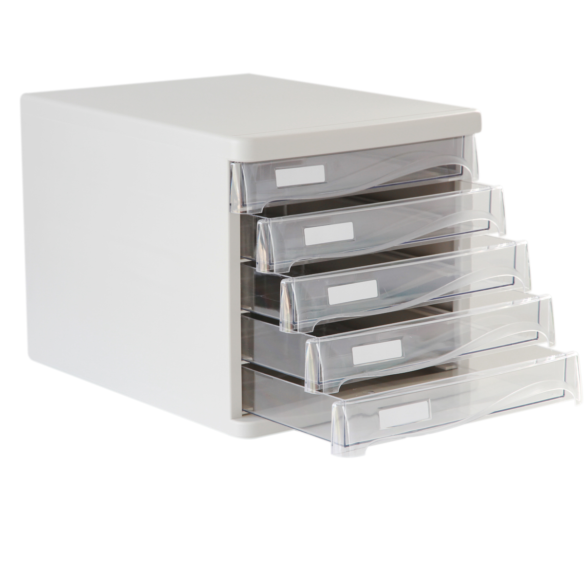 File cabinet office five transparent plastic drawer storage ...