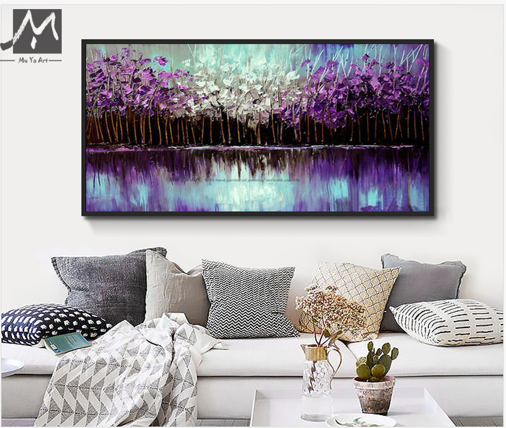Aliexpress Com Buy Muya 100 Handmade Large Canvas Wall