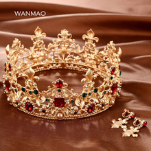 Handmade Gold Crystal Queen Crown
