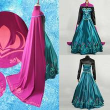 M L XL Snow Queen anna dress adult halloween princess anna Coronation cosplay costume Movie party women fancy dress Custom Made(China)