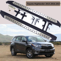 For Toyota Highlander 2015 2016 2017 Car Running Boards Auto Side Step Bar Pedals High Quality