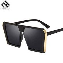Evrfelan роскошные большие солнцезащитные очки женские gafas крутые большие линзы очки oculos Мужские квадратные солнцезащитные очки UV400