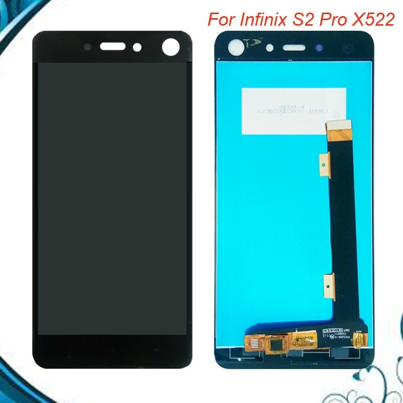 100% Nuevo LCD para Infinix S2 Pro X522 completa pantalla LCD de la Asamblea de pantalla táctil digitalizador 5,2 pulgadas X522 pantalla