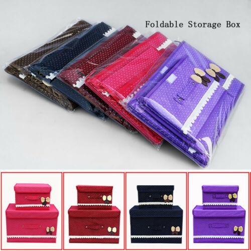 Washable Bra Underwear Storage Box With Cover linen Folding Cases Necktie Socks Underwear Clothing Organizer Container