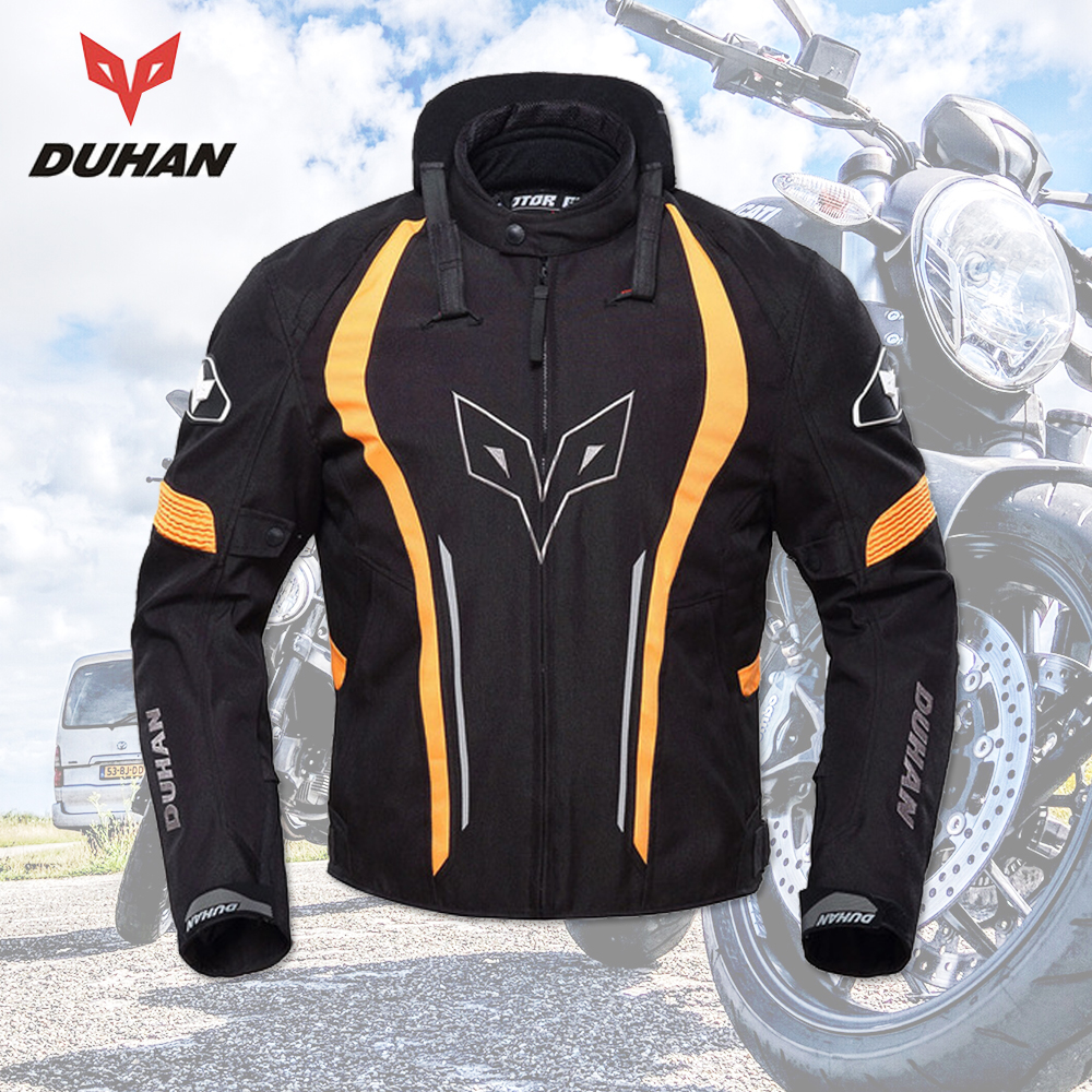 DUHAN Motorcycle Jacket Men Racing Waterproof Motorbike Clothing Motorcycle Protective Spine Chest Protective Moto Jackets все цены