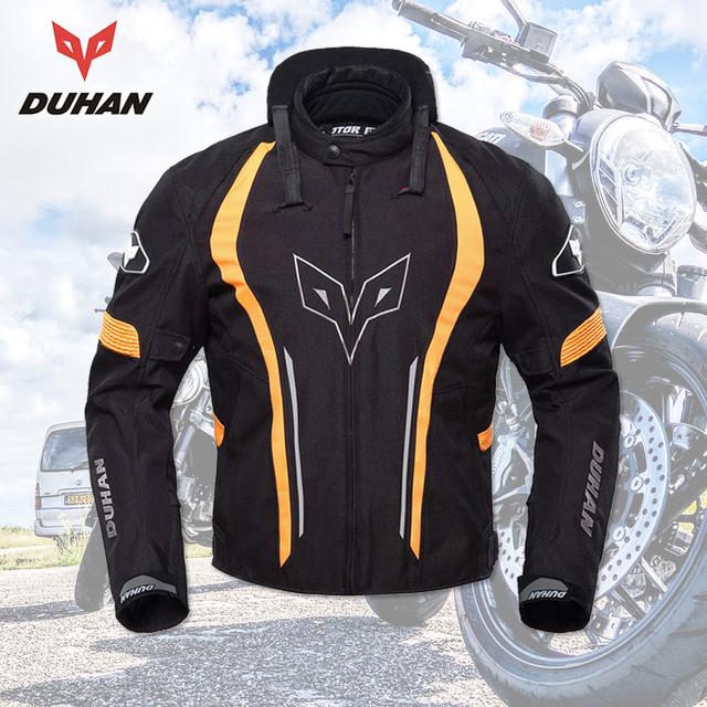 DUHAN Motorcycle Jacket  Men Racing Waterproof Motorbike Clothing Motorcycle Protective Spine Chest Protective Moto Jackets