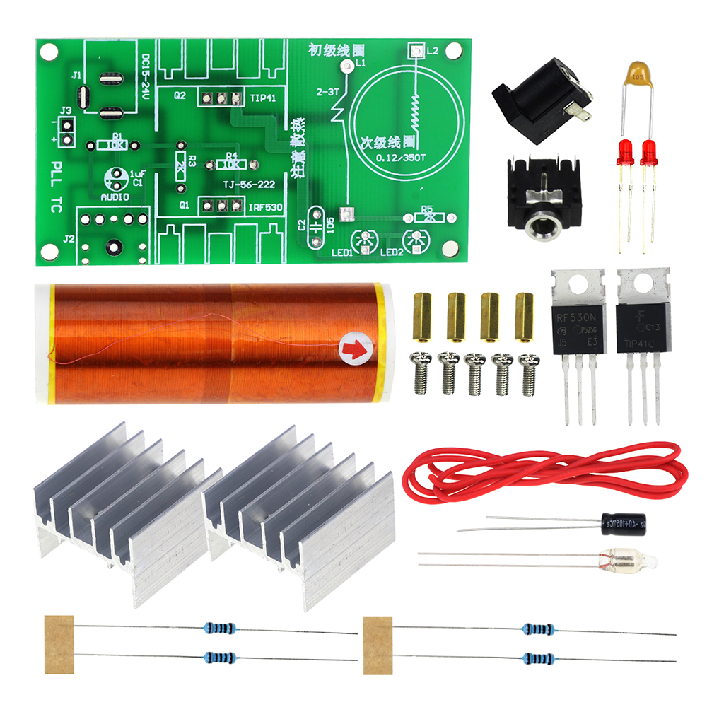 Mini Tesla Coil Kit 15w Music Plasma Speaker Teslawirelesspowercircuitjpg Wireless Transmission Dc 15 24v Diy In Integrated Circuits From Electronic Components