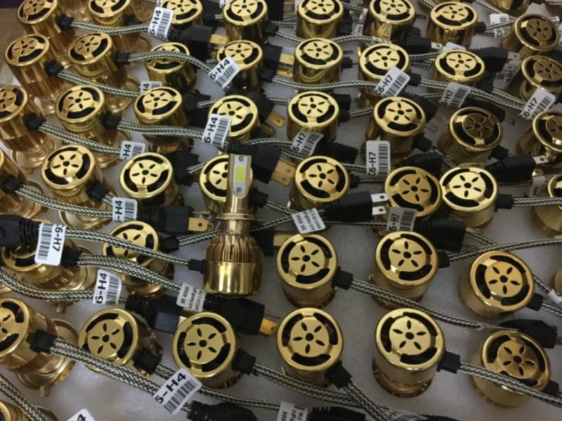 YY H4 H11 H1 H3 H7 9005 9006 C6 Bil LED Forlygtepærer Kit Super - Billygter - Foto 4
