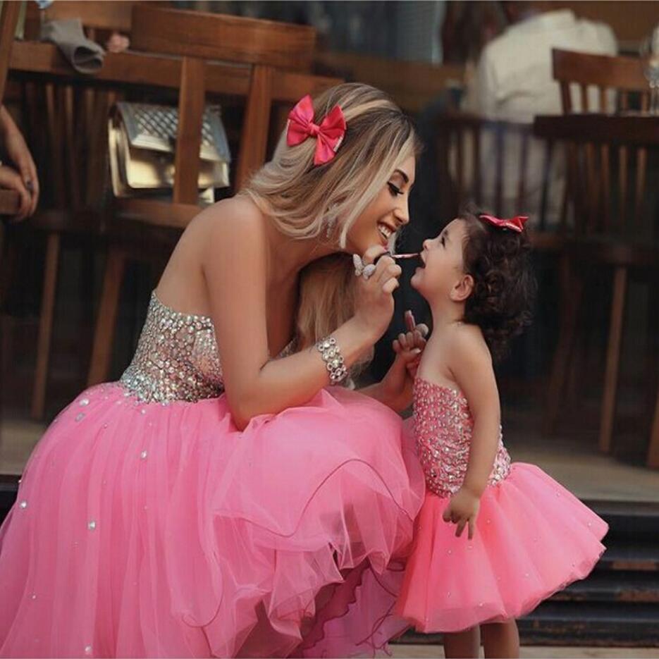 2017 Vestidos de Niña de Lujo Rosado Encantador Vestido de Comunión ...