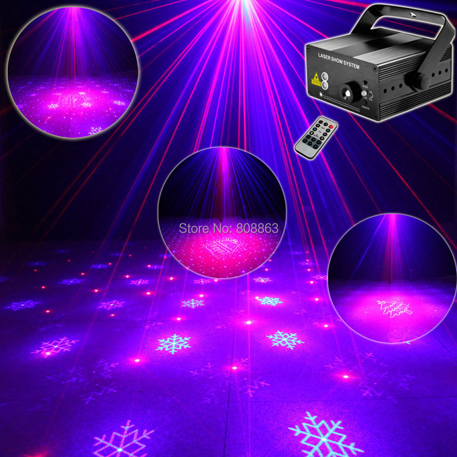 ESHINY Mini Blue Red Laser 16 Christmas Patterns Projector Led Remote Lighting Dance Xmas Disco Club Home Party Stage Light T30 alien mini rg 18 patterns remote laser stage lighting effect dj disco party dance holiday xmas led blue laser projector light