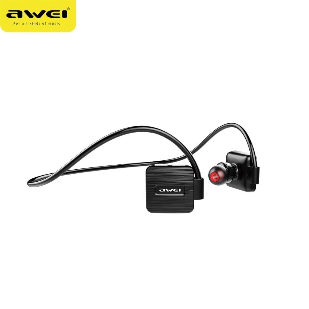 AWEI A848BL Wireless Sports Headset bluetooth wireless waterproof earphone with microphone Music Stereo Earbuds black headphones 1