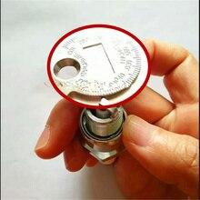 1pc 스파크 플러그 갭 게이지 도구 측정 솔리드 합금강 0.6 2.4mm 코인 타입 범위 스파크 플러그 게이지 고품질