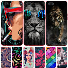For Oppo Realme C1 Case Soft TPU Silicone Cover Fashion Cartoon Phone Case For Oppo A3S A3 S Oppo A5 A5S AX5S For Realme C1 C 1(China)