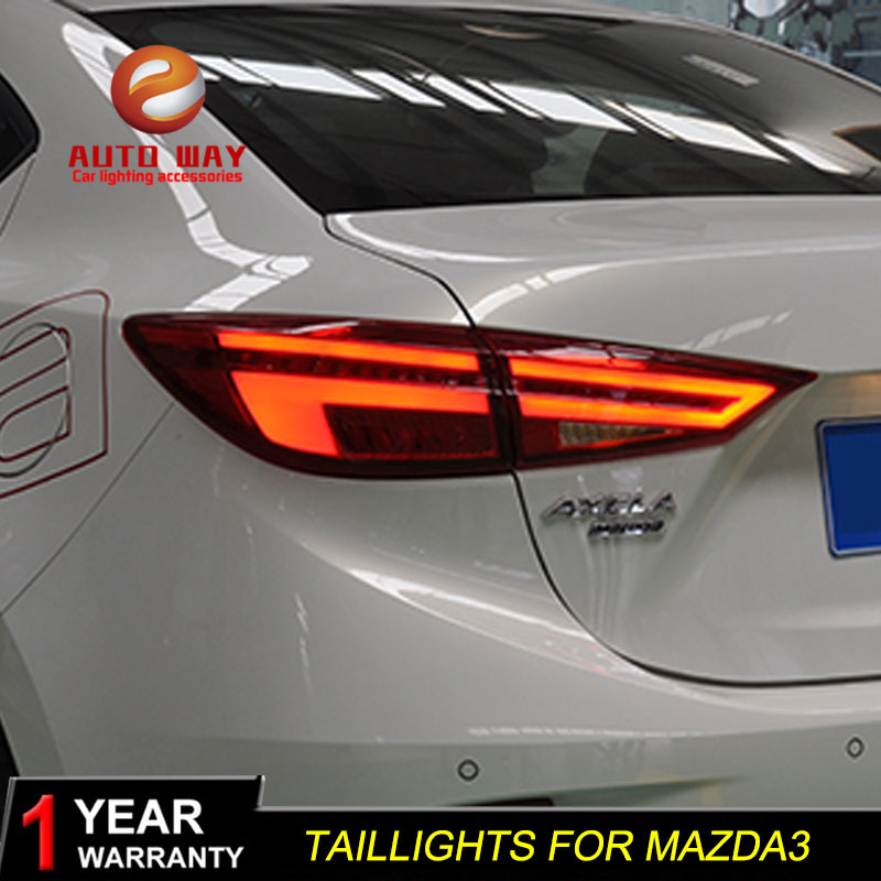 Car Styling case for Mazda3 Axela 2014-2017 taillights Mazda 3 M3 TAIL Lights LED Tail Light LED Rear Lamp Certa taillight 1 pc outer rear tail light lamp taillamp taillight rh right side gr1a 51 170 for mazda 6 2005 2010 gg