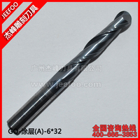 6 32mm 2 Flutes Ball Nose Bits Carving Router End Mill Machine Engraving Tools Ball Nose