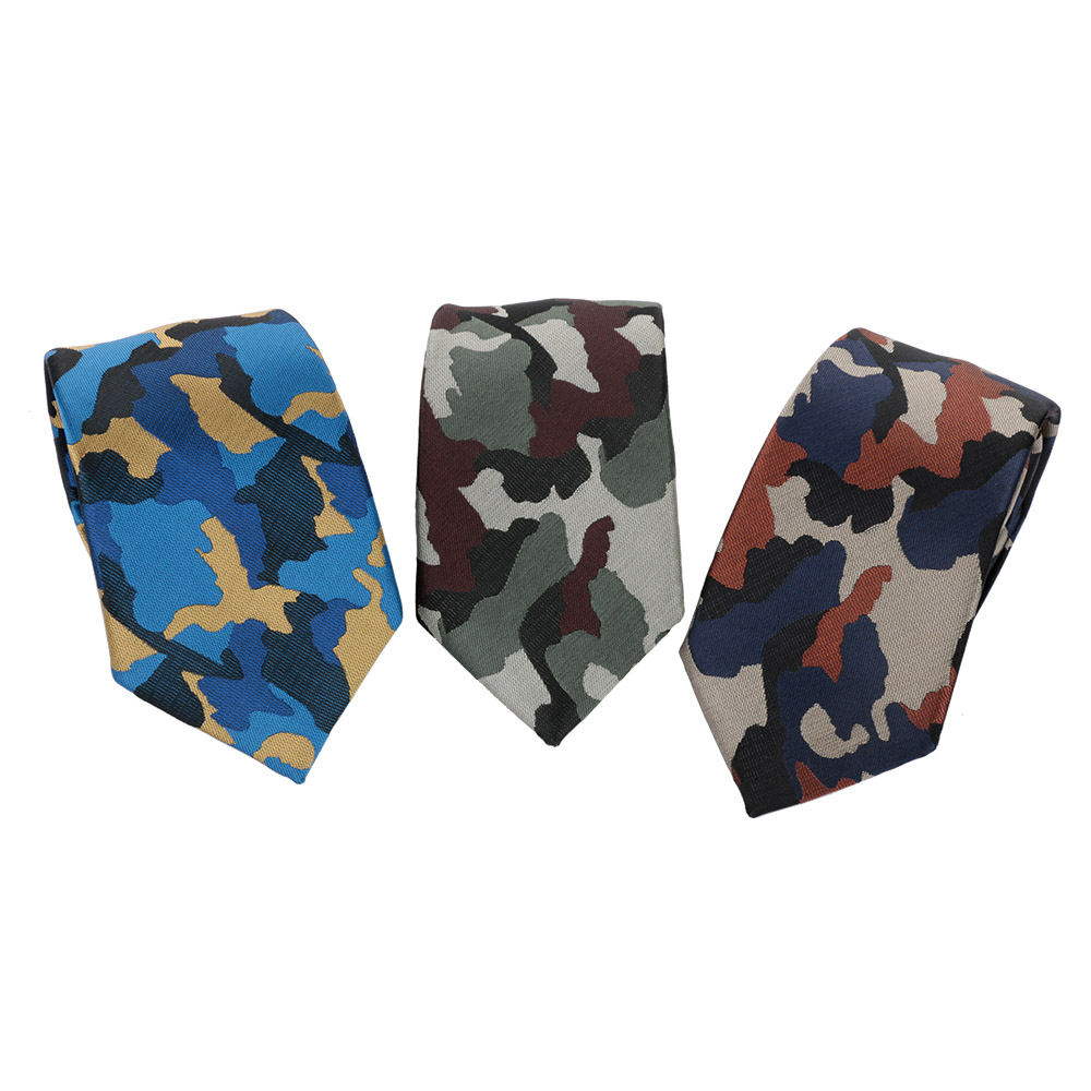 Fashion Camouflage Tie Mens Floral Polyester Skinny Thin Army Military Camo Necktie Men's Clothing Accessories For Business Suit