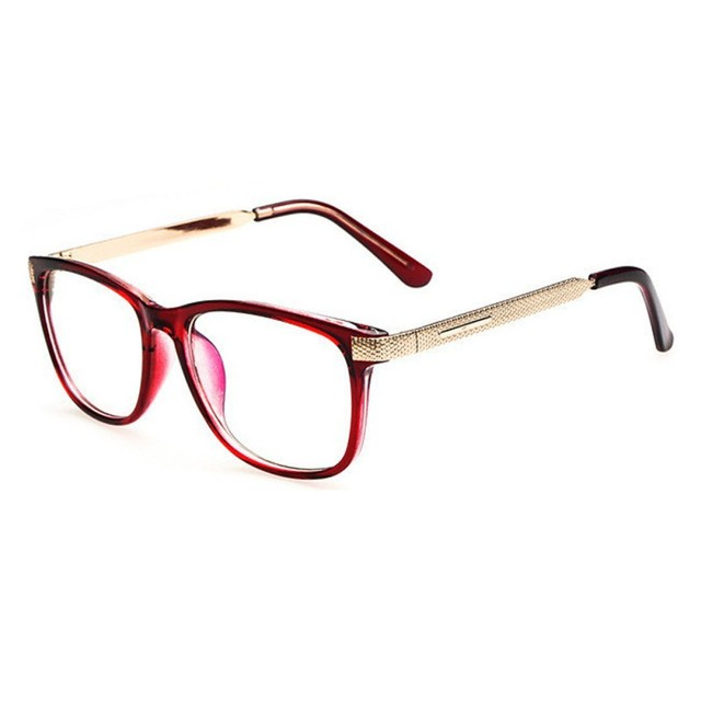 465d3b3e6812 Women Retro anti-radiation glasses Fashion Eyewear Steel Leg Frame Optical  Eyeglasses Frames Clear Lens Glasses