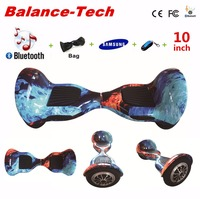Tax free gyroscooter 10 дюймов ХОВЕРБОРДА Гироскутеры Samsung Батарея 2 Колёса smart Электрический скейтборд с дистанционным/Сумка