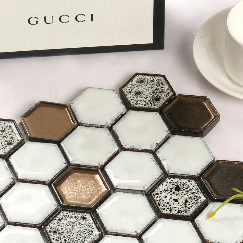 Kepinfy 45*50 мм гексагональная керамическая мозаичная плитка для дома, отеля, отдыха, украшения проекта