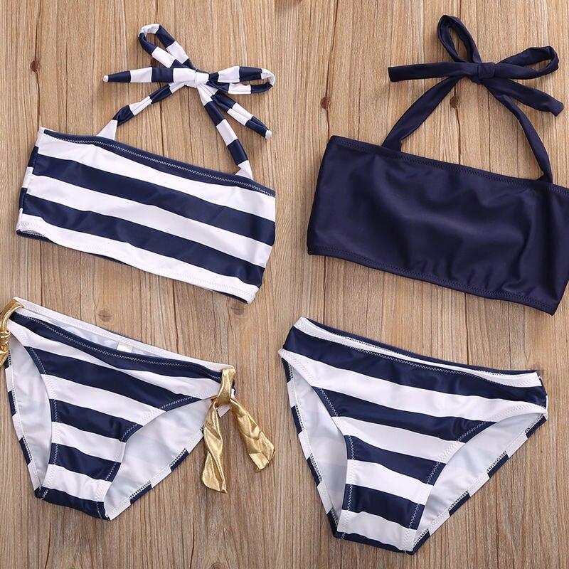 estate bambino delle ragazze dei capretti vestiti regolati bikini costumi da bagno costume da bagno beachwear costume della raga