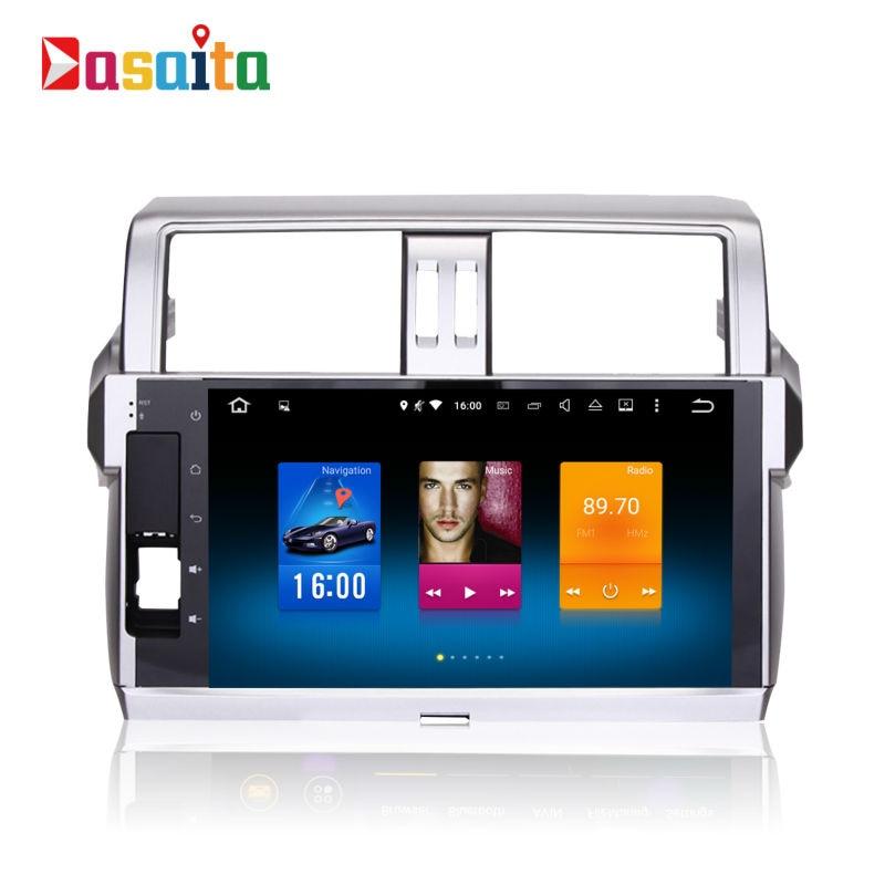 imágenes para 2din android GPS del coche para Toyota Prado 150 2014 + autoradio navegación unidad principal multimedia 2 Gb + 32 Gb 64bit Android 6.0 PX5 8-Core