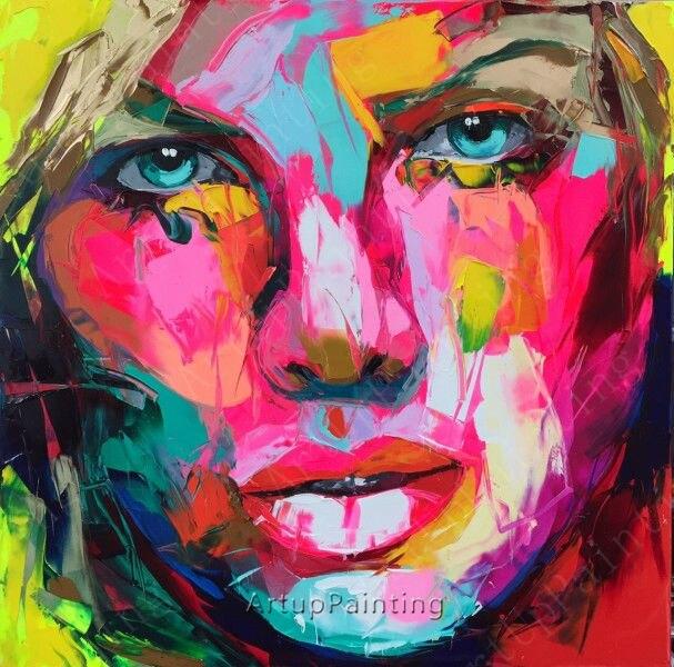 Super Paletmes schilderen portret paletmes Gezicht olieverfschilderij &NA45