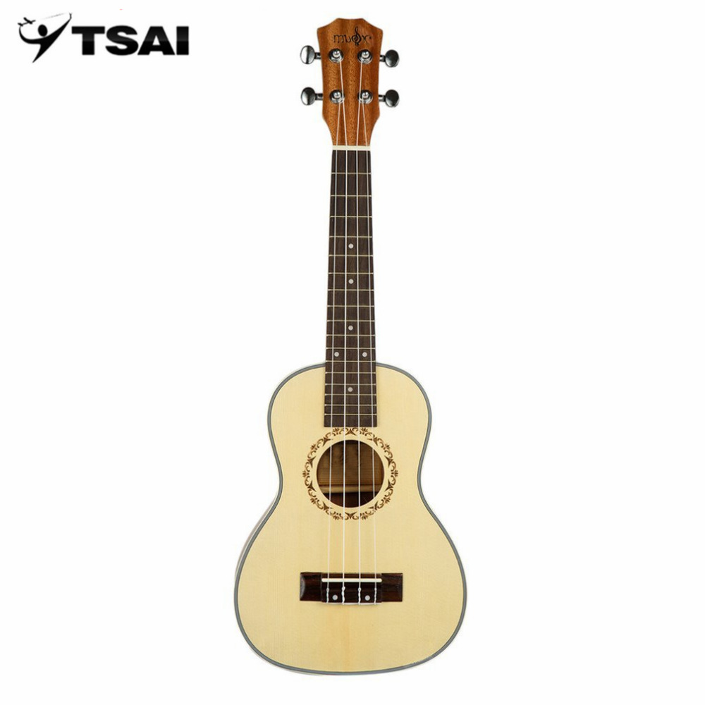 TSAI 23inch/26inch Wooden Ukulele Seal Edge Four String Guitar Mahogany Four Wire Ukulele Stringed Instrument New Arrival tsai chin taipei