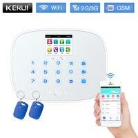 KERUI W193 3G Wi Fi GSM rfid карты Сенсорный экран Android IOS APP пульт дистанционного управления сигнализации Системы дома охранной сигнализации Белый Черн