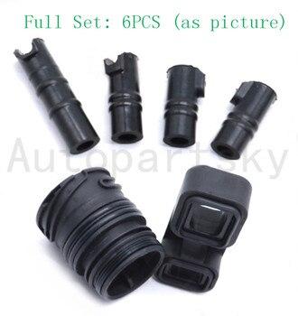 Wysokiej jakości zawór ciała VB rękawy złącze Adapter zestaw uszczelek (6 sztuk = 1 zestaw) dla BMW 6HP19 6HP21 OEM 24107536339 24107536341