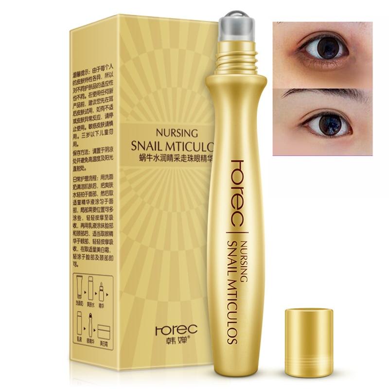 ROREC Eye Serum Anti-Wrinkle Snail Essence For Eyes Cream Dark Circle Cream Snail Hyaluronic Acid Korean Cosmetics Skin Care