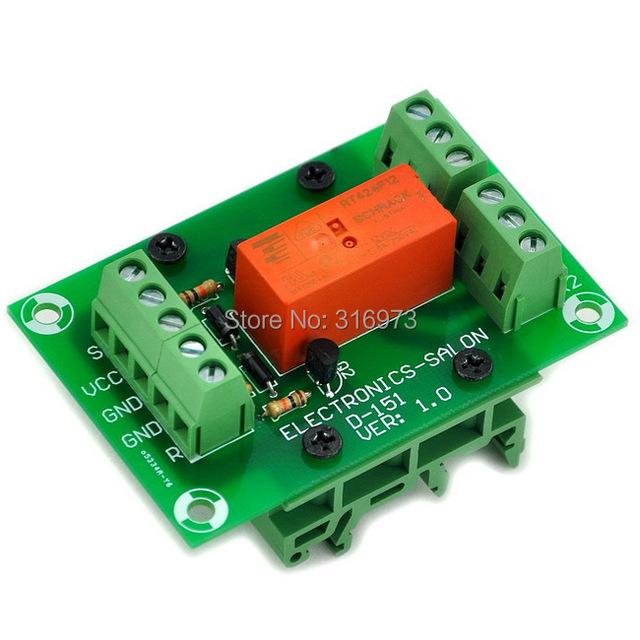 Biestable/Módulo de Relé de Enclavamiento DPDT 8 Amplificador de Potencia, DC12V Coil, con Carril DIN Metros