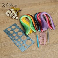 KiWarm 12Pcs Practical Quilling Paper Rolling Kit Slotted Tools Strips Tweezer Ruler Paper Quilling Tool Home
