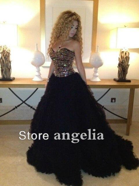 Сексуальная арабский звезда тарифы одеваться милая с кристаллами бальное платье длиной до пола тюль вечерние платья знаменитостей