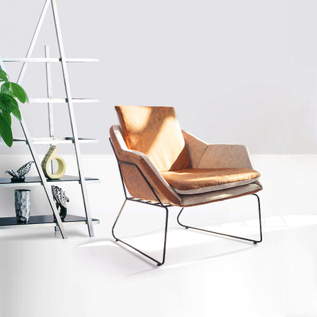 Furniture Dedicated Office Sofas Office Furniture Commercial Furniture Iron Frame+leather/linen One Seat Sofa Chair Wholesale Hot Sillones New 2018 Office Sofas