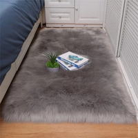 Faux Fur Sheepskin Rug Carpet Bedroom Living Room Soft Fluffy White Area Rugs Floor Mat Home Decor Hairy Carpets tapis