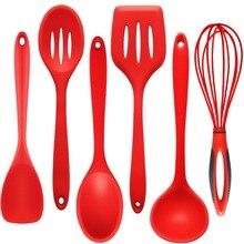 1 шт силиконовая посуда для приготовления пищи включает суповую ложку сливную лопату венчик Многофункциональные кухонные инструменты для приготовления пищи