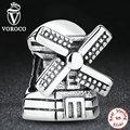 Moda moinho de vento real 925 prata esterlina pingentes de prata encantos fit pandora pulseiras colar acessórios de noivado s261