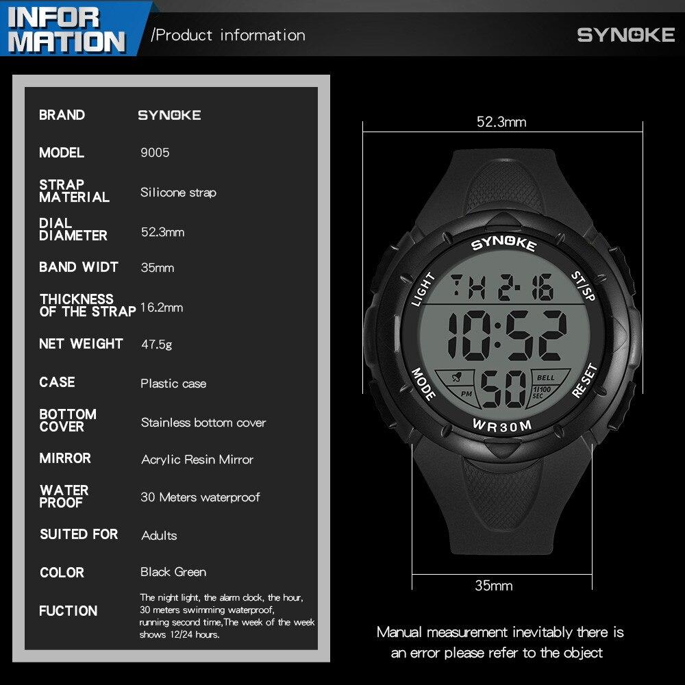 Multifunctional digital watch men outdoor running led watch sport watches Digital wrist watch relogio digital-5