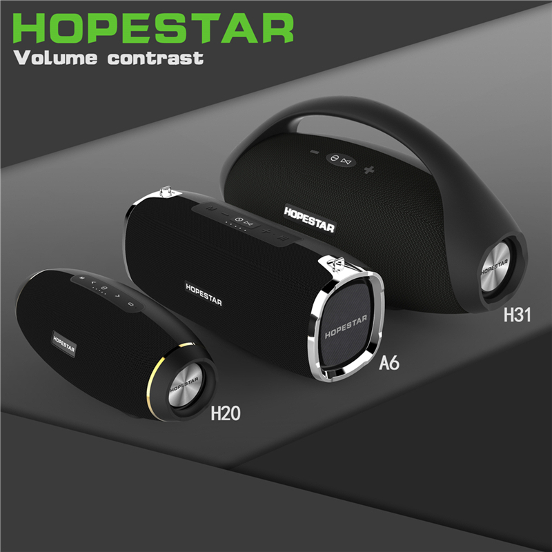 HOPESTAR H31 basse lourde énorme puissance 32 W Bluetooth haut-parleur stéréo barre de son basse sans fil haut-parleur Subwoofer TF USB Portable