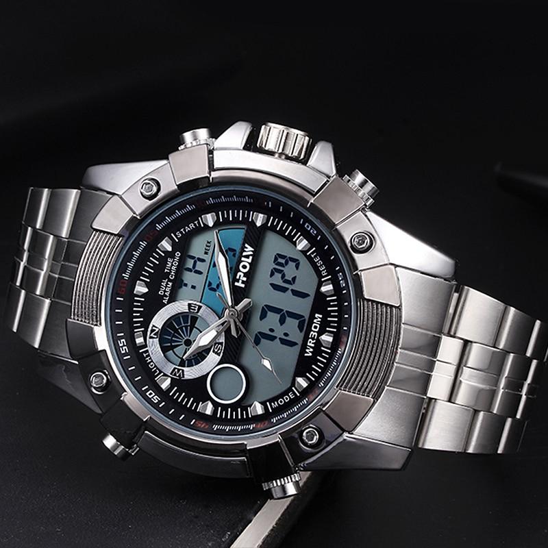 Marca relojes deportivos militares de los hombres analógico de cuarzo relojes de moda impermeable reloj hombre reloj Masculino XFCS