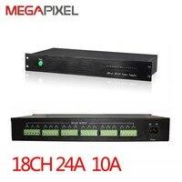 Адаптер питания крепление Питание 18Ch AC24V выход Мощность коробка 10A для видеонаблюдения Видео Безопасности IP камеры