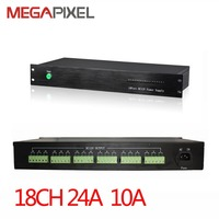 CCTV Power adapter Rack Mount Power Supply 18Ch AC24V output Power box 10A For CCTV video Surveillance security IP cameras