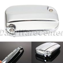 Aluminum Motorcycle Brake Fluid Reservoir Cap Cover for Harley Davidson Electra Glide Road King 2007 2014