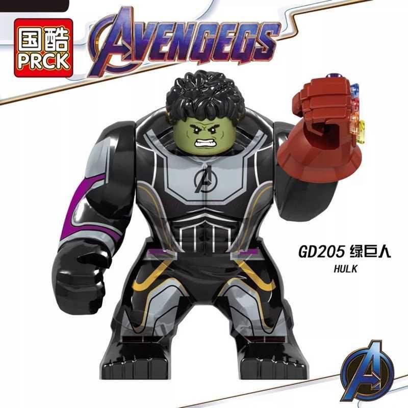 Grande tamanho marvel figuras grandes blocos de construção homem de ferro hulk spiderman thanos endgame crianças brinquedos maravilhados vingadores filmes brinquedo presente