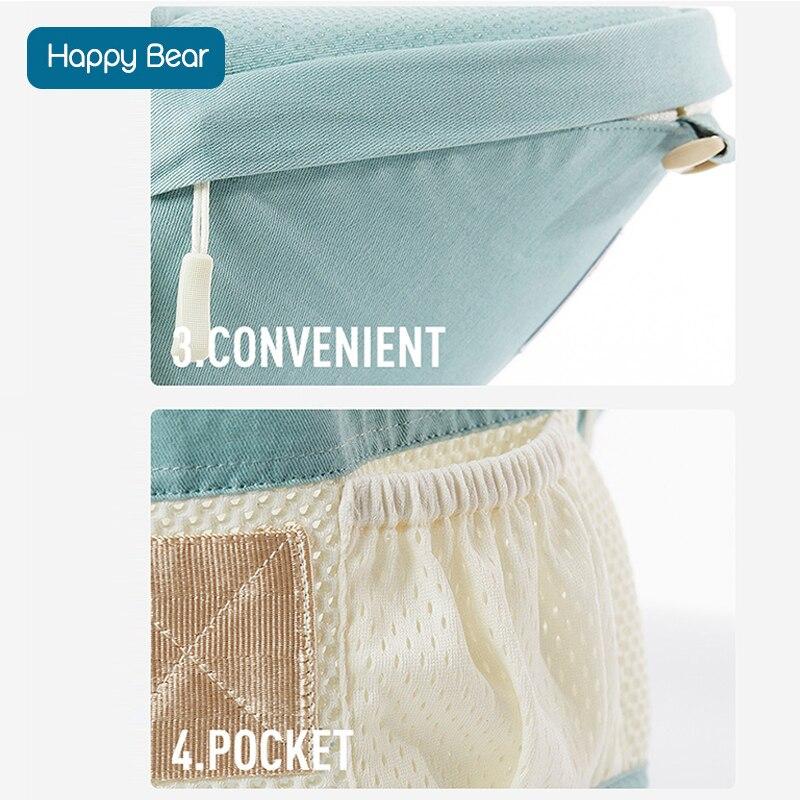 HappyBear Baby Carrier Mesh Design Oddychający kangury Plecak - Aktywność i sprzęt dla dzieci - Zdjęcie 4
