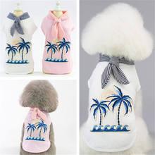 2019 New Palm Tree Dog Clothes Summer French Bulldog Clothing Hawaiian Shirt Cheap Breathable Cotton