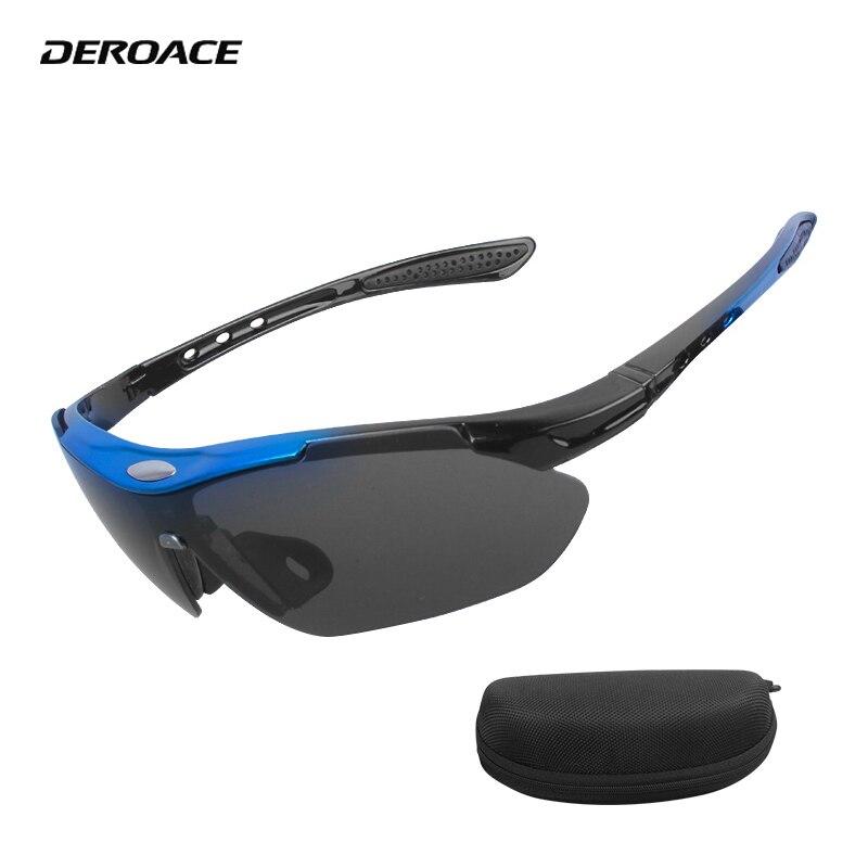 DEROACE Cycling Sun Glasses Goggles Women Men Case Eyeglass Uv400 Cycling Sunglasses Rockbros Goggles Cycling Eyewear Glasses