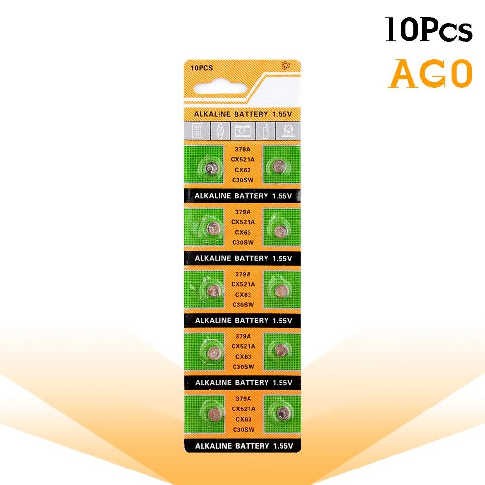 YCDC 10Pcs/Lot New LONG LASTING 379 SR521SW D379 SR63 V379 AG0 Watch Battery Button Coin Cell MADE IN CHINA 100% Original 10pcs lot sen013dg original