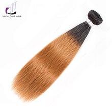 "SHENLONG HAIR Malaysisk Straight Hair 1 Piece Non-Remy Hair Bundles 100% Human Hair Extensions 8 ""-24"" Gratis Levering"